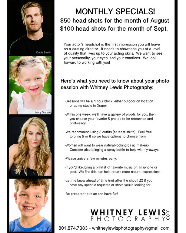 Headshots Flyer Specials1
