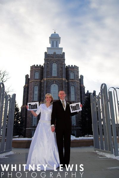 Logan Temple, Wedding, Winter, Ashley and Derek, Utah