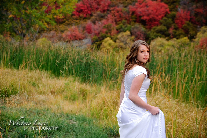 Kelsey's Bridal Photos above Sundance, UT
