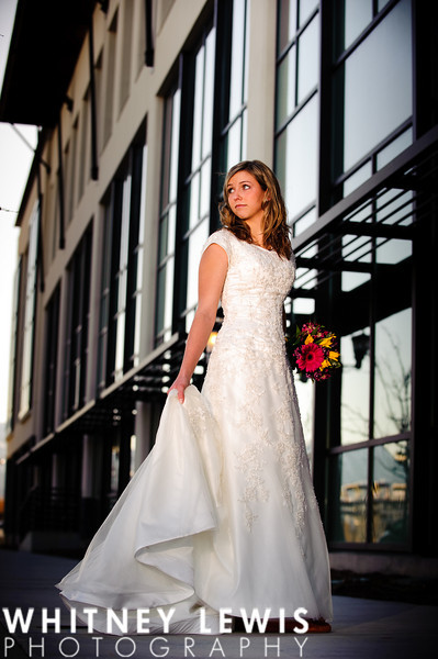 glass windows, full body shot, wedding gown