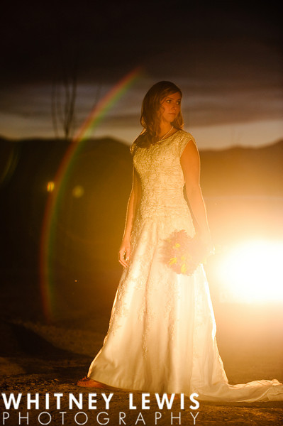 car lights, rainbow, bride, flare, dramatic