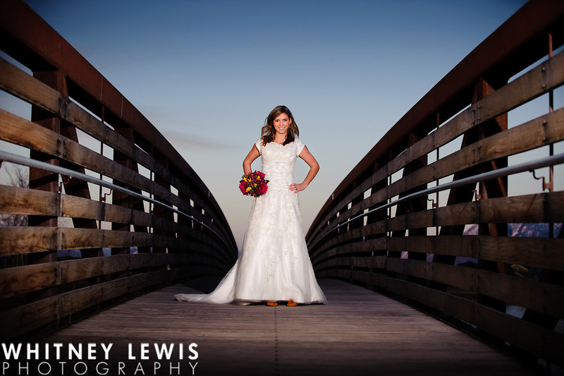 wide angle bride bridal picture