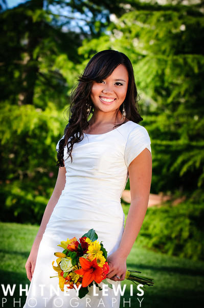 spring bridal photography, Temple Square, SLC