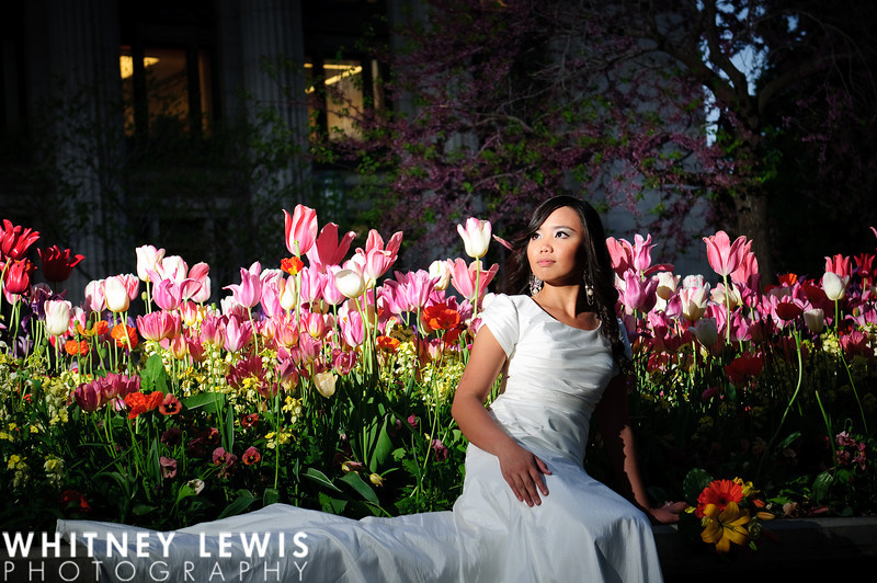 dramatic lighting, flowers, utah bridal photography