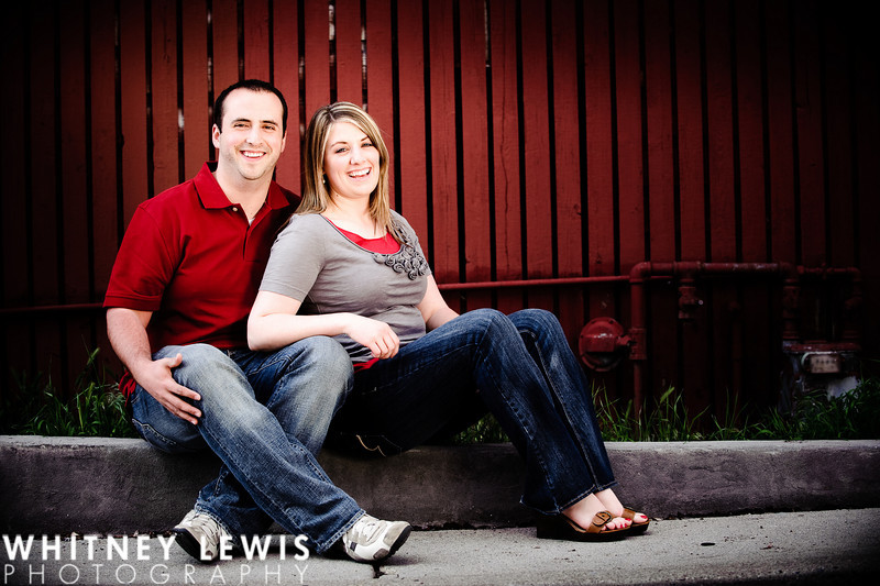 red wood slat fence, utah engagement photography