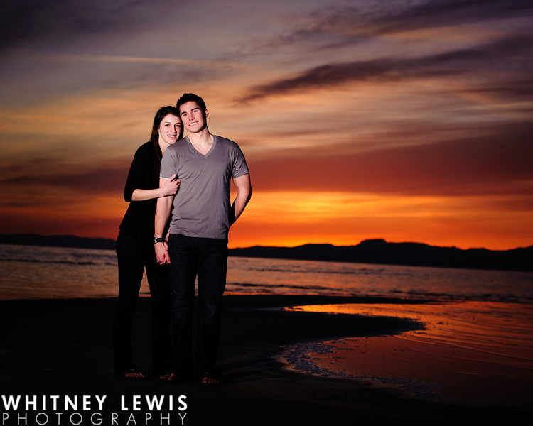 Beach, Great Salt Lake, Salt Air, Sunset engagements