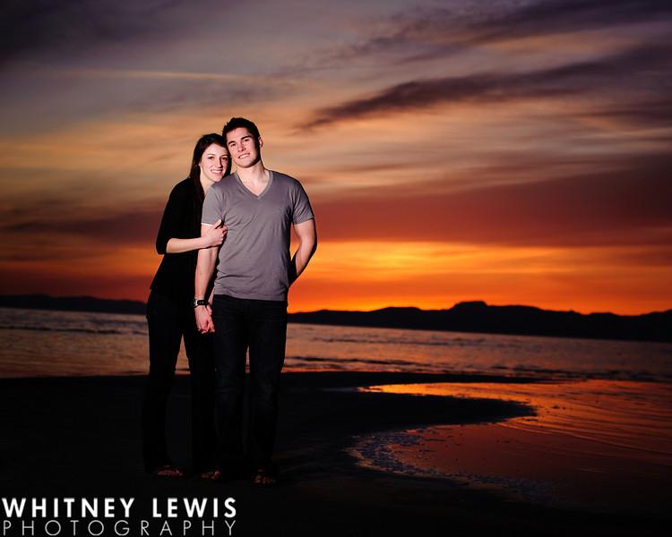 Beach, Great Salt Lake, Salt Air, Sunset engagements
