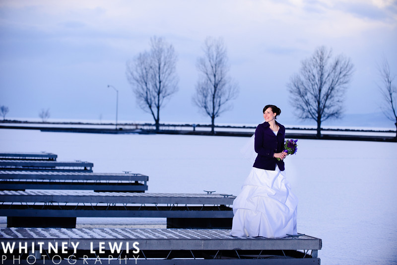 winter Bridal Photos, Utah Lake