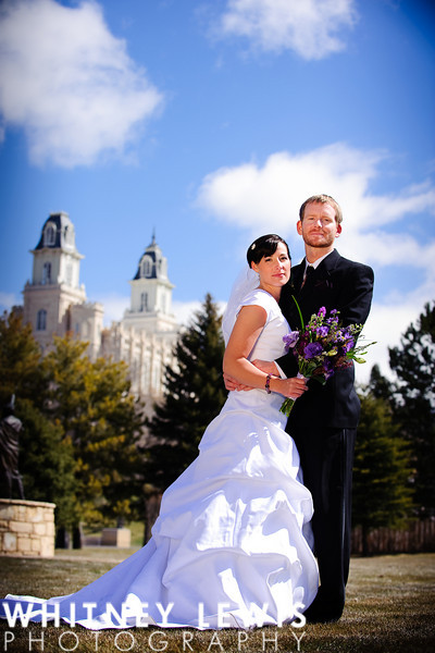 Serious faces, Manti Temple, Newlyweds, Dramatic