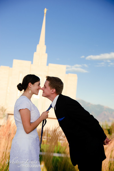 Utah Wedding Photography for Emily and Nathan Jorgenson around the Oquirrh Mountain Temple in West Jordan Utah